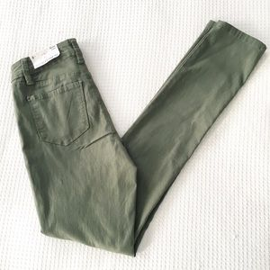 Royalty For Me | Moss Green Mid Rise Skinny Jeans